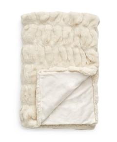 Hudson Park Sculpted Faux Fur Throw - 100% Exclusive