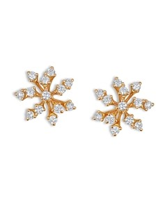 Hueb 18K Rose Gold Luminus Diamond Cluster Stud Earrings
