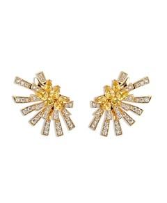 Hueb 18K Yellow Gold Mirage Yellow Sapphire & Diamond Cluster Stud Earrings