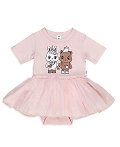 Huxbaby Girls' Furry Friend Ballet Onesie - Baby