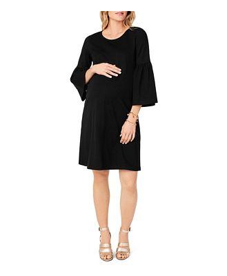 Ingrid & Isabel Maternity Ponte Bell-Sleeve Dress