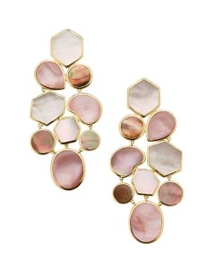 Ippolita 18K Gold Polished Rock Candy Multi-Color Mother-Of-Pearl Drop Earrings