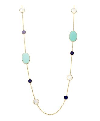 Ippolita 18K Yellow Gold Polished Rock Candy Gemstone Station Necklace, 37