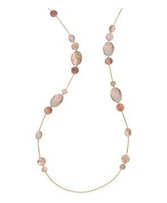 Ippolita 18K Yellow Gold Rock Candy Hero Brown Shell Statement Necklace, 50