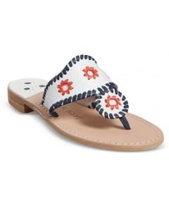 Jack Rogers Women's Patriotic Woven Thong Sandals