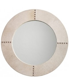 Jamie Young Cross Stitch Mirror, White