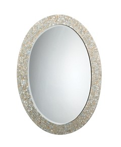 Jamie Young Large Oval Mirror, Mother of Pearl
