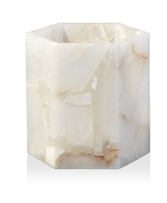 Jamie Young Savannah Hex Hurricane Candle Holder
