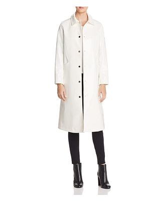 Jane Post Long Snap Slicker Raincoat