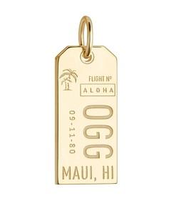 Jet Set Candy Maui, Hawaii Ogg Luggage Tag Charm