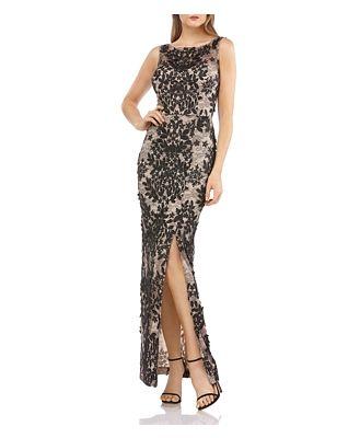 Js Collections Floral Applique Gown