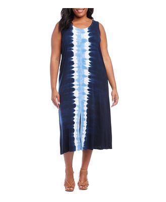 Karen Kane Plus Tie Dyed Midi Dress