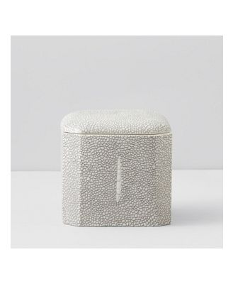 Kassatex Shagreen Cotton Ball Jar