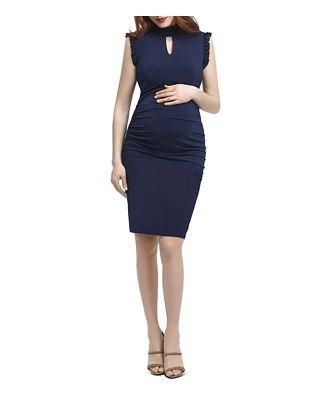 Kimi & Kai Madeline Ruffle Trim Maternity Dress