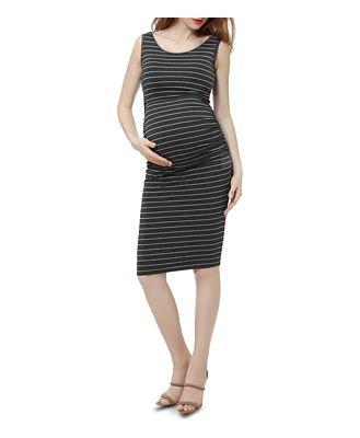 Kimi & Kai Tobi Sleeveless Striped Maternity Dress