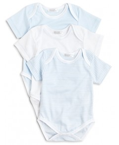 Kissy Kissy Boys' Stripe & Solid Bodysuit, 3 Pack - Baby