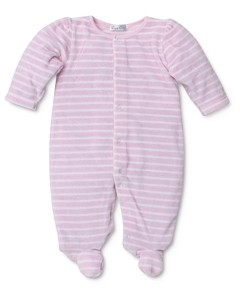 Kissy Kissy Girls' Striped Velour Footie - Baby