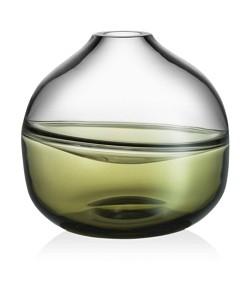 Kosta Boda Septum Green Vase