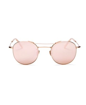 Krewe Women's Orleans Mirrored Round Sunglasses, 48mm