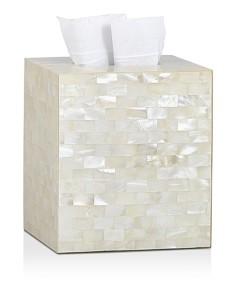Labrazel White Agate Tissue Box
