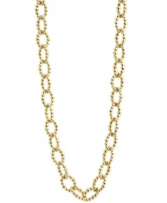 Lagos Caviar Gold Collection 18K Gold Beaded Link Necklace, 32