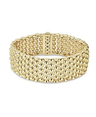 Lagos Caviar Gold Collection 18K Gold Wide Beaded Bracelet