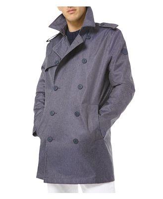Michael Kors 3L Denim Trench Coat
