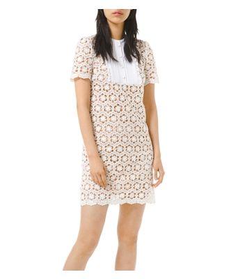 Michael Michael Kors Sequined Floral Lace Mini Dress