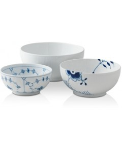 Royal Copenhagen History Mixing Bowl, Set of 3