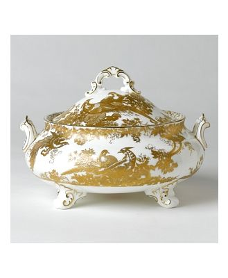 Royal Crown Derby Gold Aves Covered Soup Tureen
