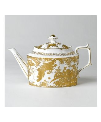Royal Crown Derby Gold Aves Teapot
