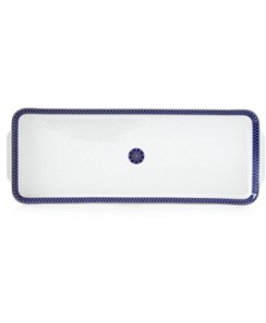 Royal Limoges Blue Star Rectangular Cake Platter