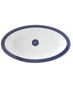 Royal Limoges Blue Star Relish Dish