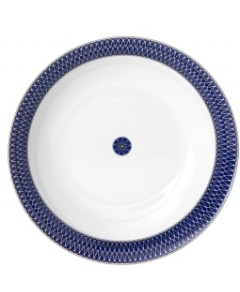 Royal Limoges Blue Star Round Cake Platter