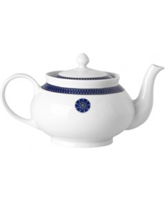 Royal Limoges Blue Star Teapot