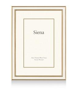 Siena White Enamel with Gold Frame, 8 x 10