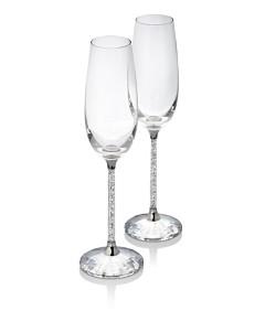 Swarovski Crystalline Champagne Flutes, Set of 2