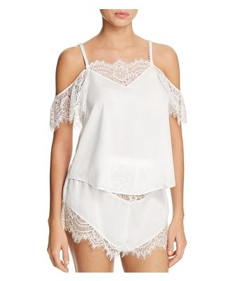 Thistle & Spire Sterling Pearls Cold Shoulder Flowy Top