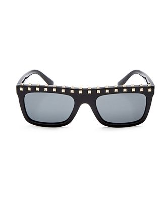 Valentino Women's Embellished Rectangle Sunglasses, 51mm