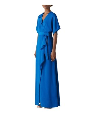 Whistles Nova Ruffled Wrap Gown