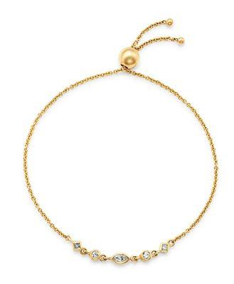 Zoe Chicco 14K Yellow Gold Mixed Diamond Bolo Bracelet