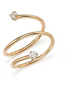 Zoe Chicco 14K Yellow Gold Wrap Ring with Diamonds