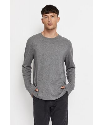 Bonds Reloved Long Sleeve Crew T-Shirt in Recycled Charcoal Marle Size:
