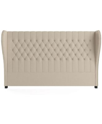 Anica King Size Bed Head French Beige