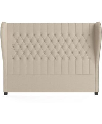 Anica Queen Size Bed Head French Beige