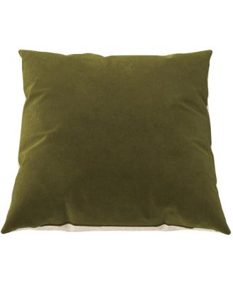 Elementary Cushion Olive Green with French Beige 45 x 45 cm 45 x 45 cm