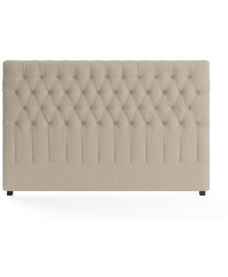 Emily King Size Bed Head French Beige