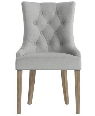 Espen Scoop Back Dining Chair Wire Brushed Solid Beech Cloud Grey