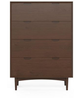 Ethan Large Chest of Drawers Chocolate Brown Solid Beech Wood