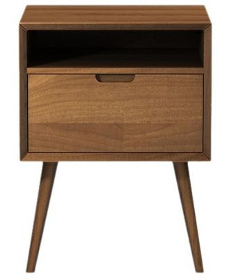 Ethan Square Side Table Chocolate Brown Solid Beech Wood